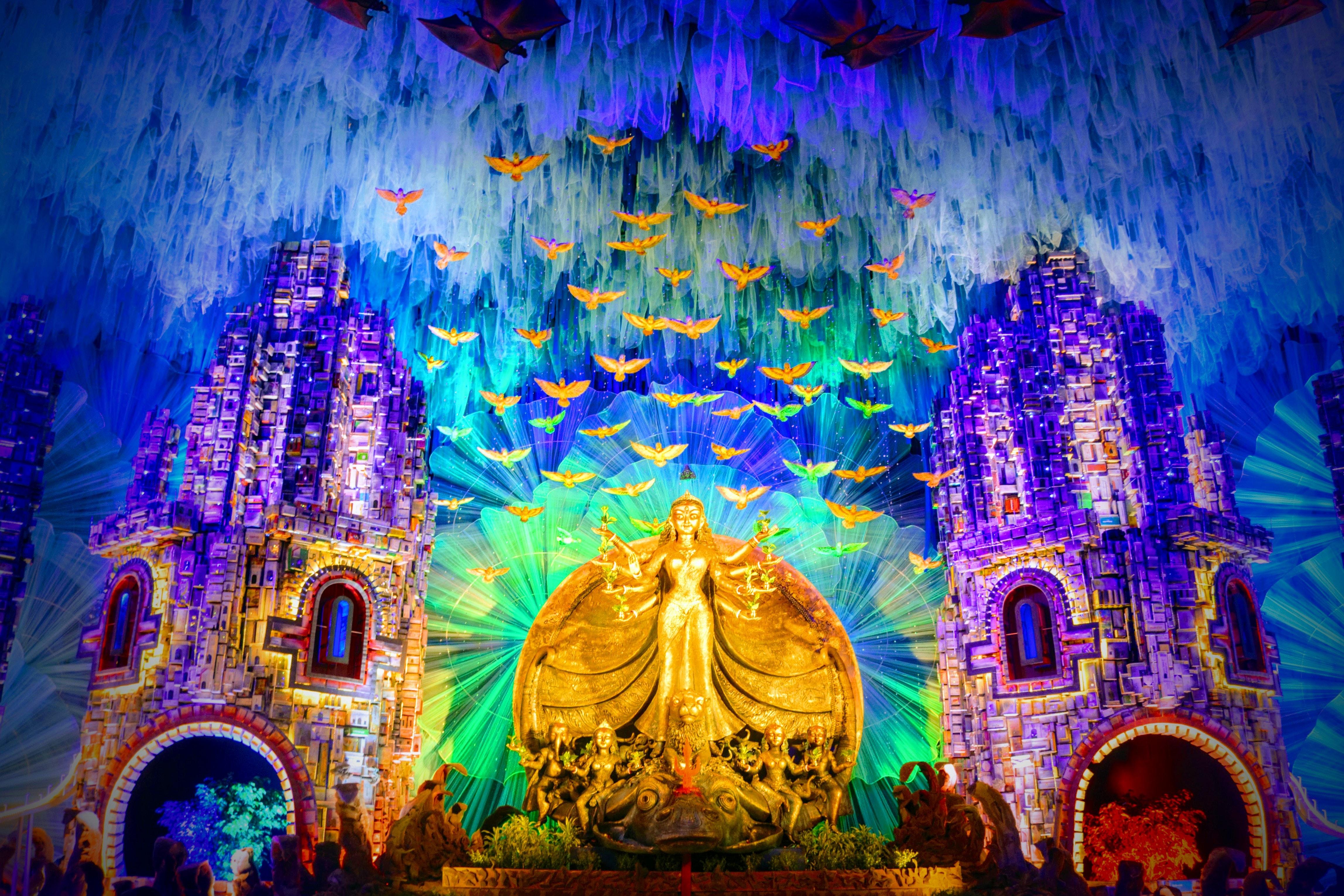 Free Stock Photo Of Colorful Durga Durga Puja