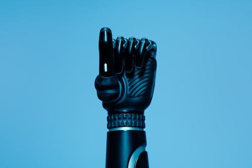Siyah Bir Sopa Tutan Siyah Insan Iskeleti