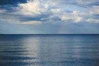 sea, ocean, horizon