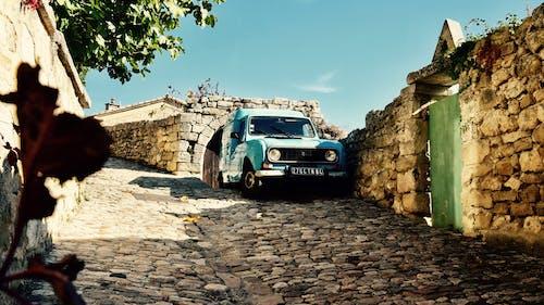 Free stock photo of car, cobblestones, france