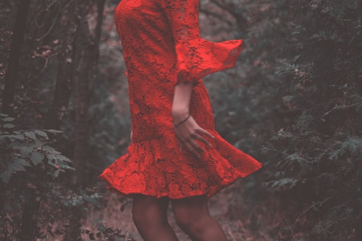 Free stock photo of fashion, person, red, woman