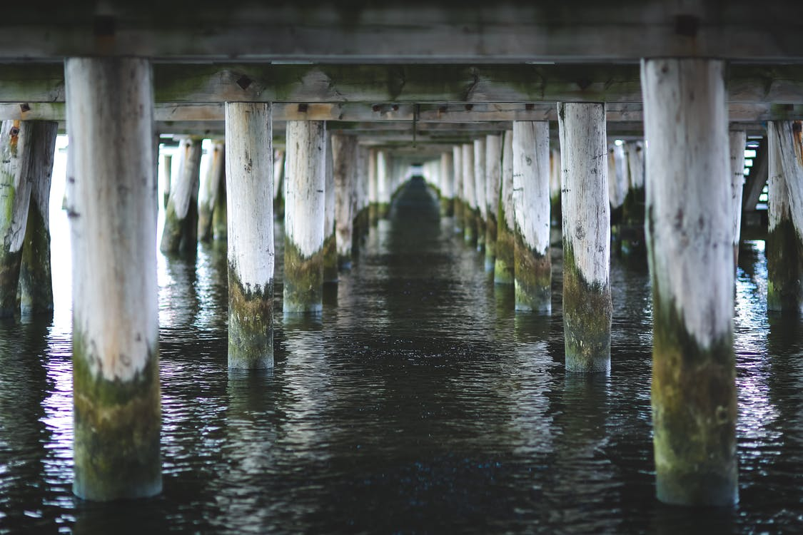 View under pier in Sopot