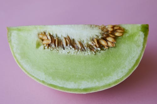 Piece of fresh juicy melon with seeds