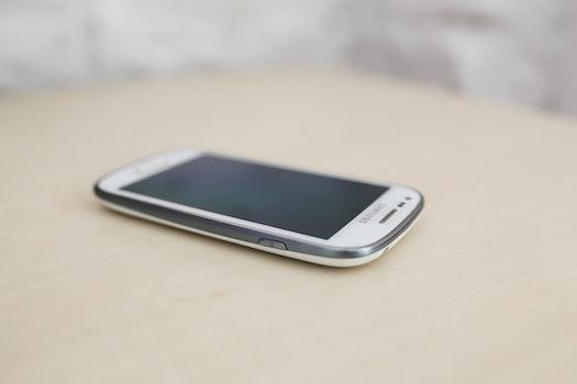 White screentouch phone