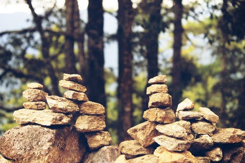 Immagine gratuita di #rocks #mountains #trees #green #balance