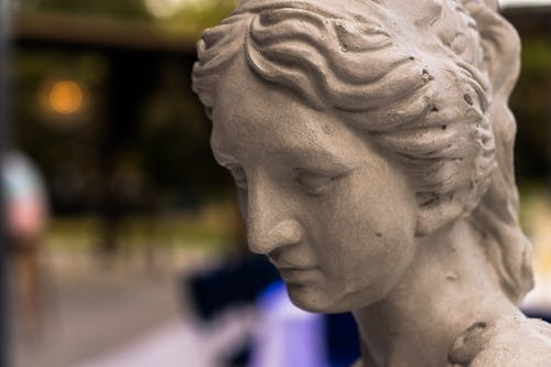 Close-Up Photo of a Statue