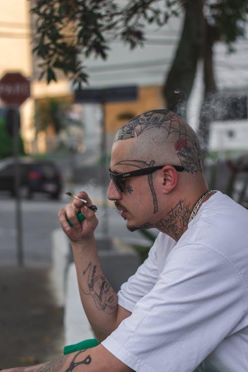 거리, 경찰, 그래피티, 남자의 무료 스톡 사진