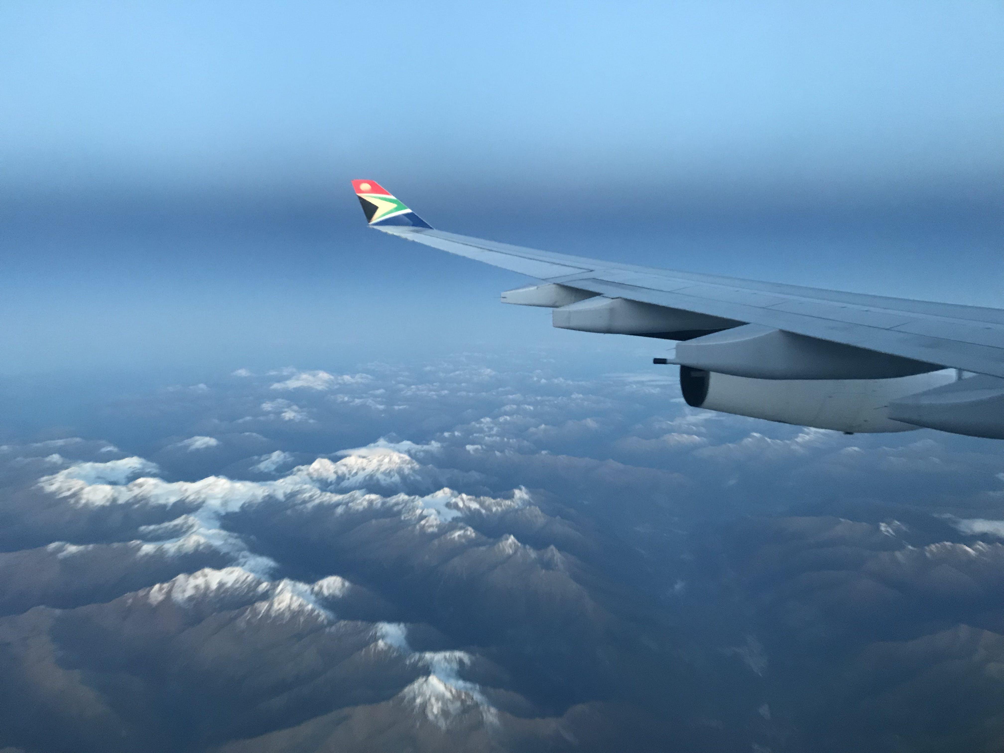 Free stock photo of snow, mountains, sky, airplane
