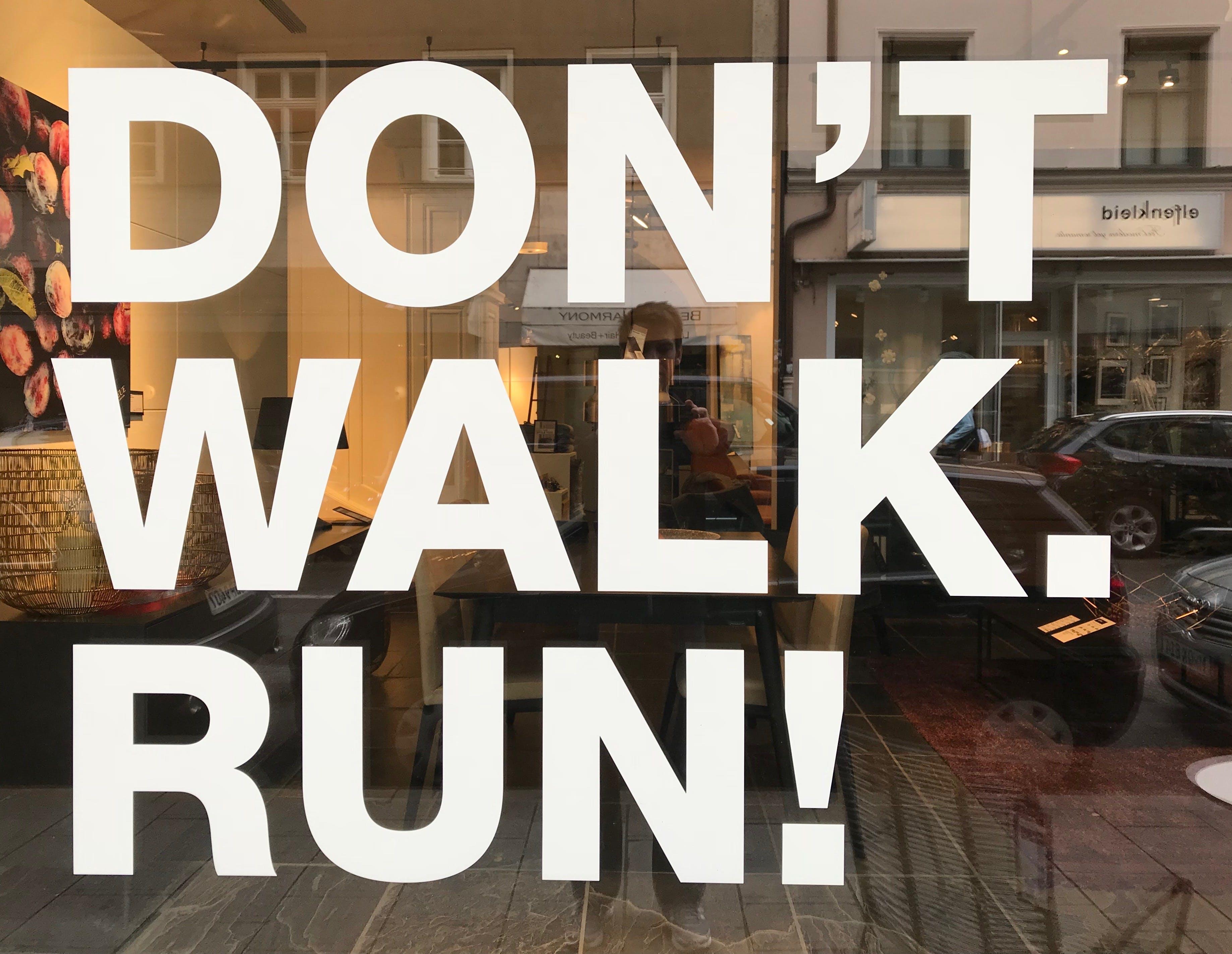 Free stock photo of reflection, run, walk, shop window