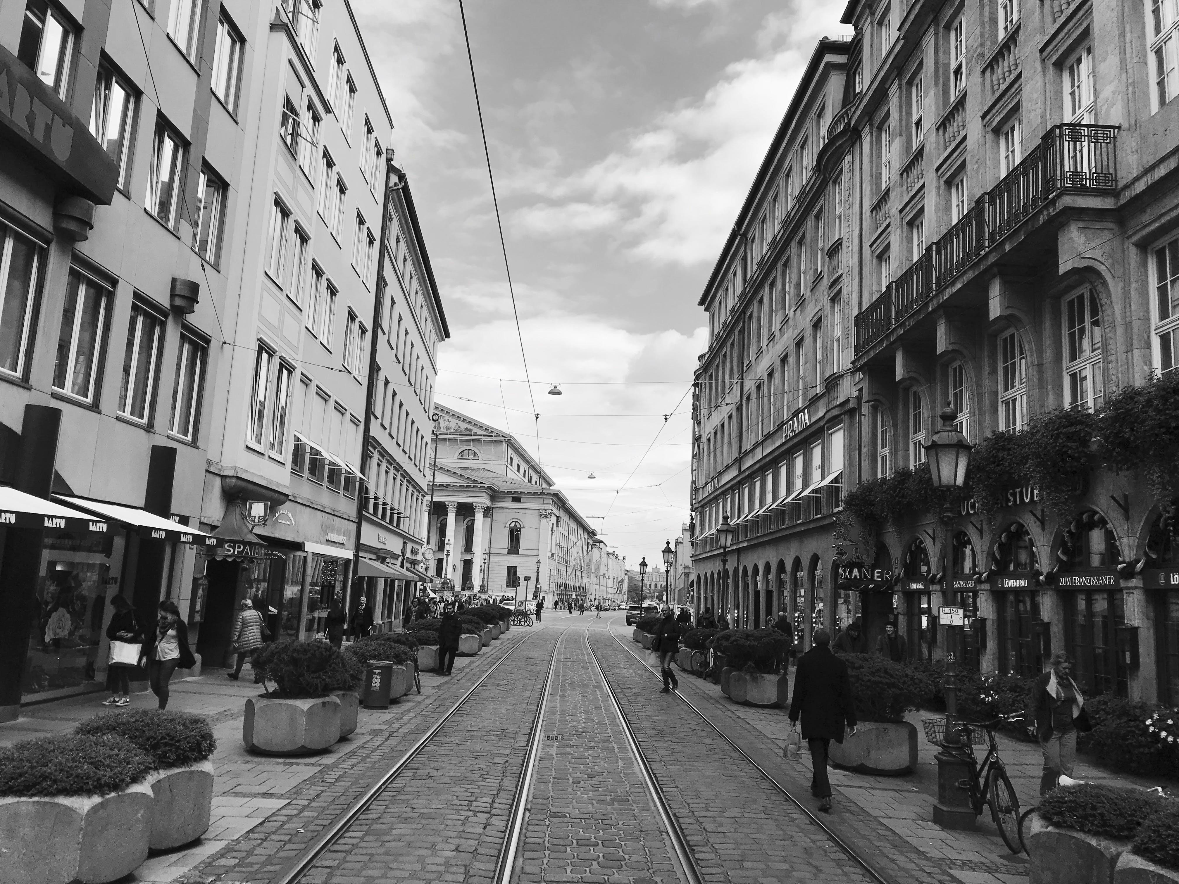 Free stock photo of cobblestone, cobblestone street, germany, grey