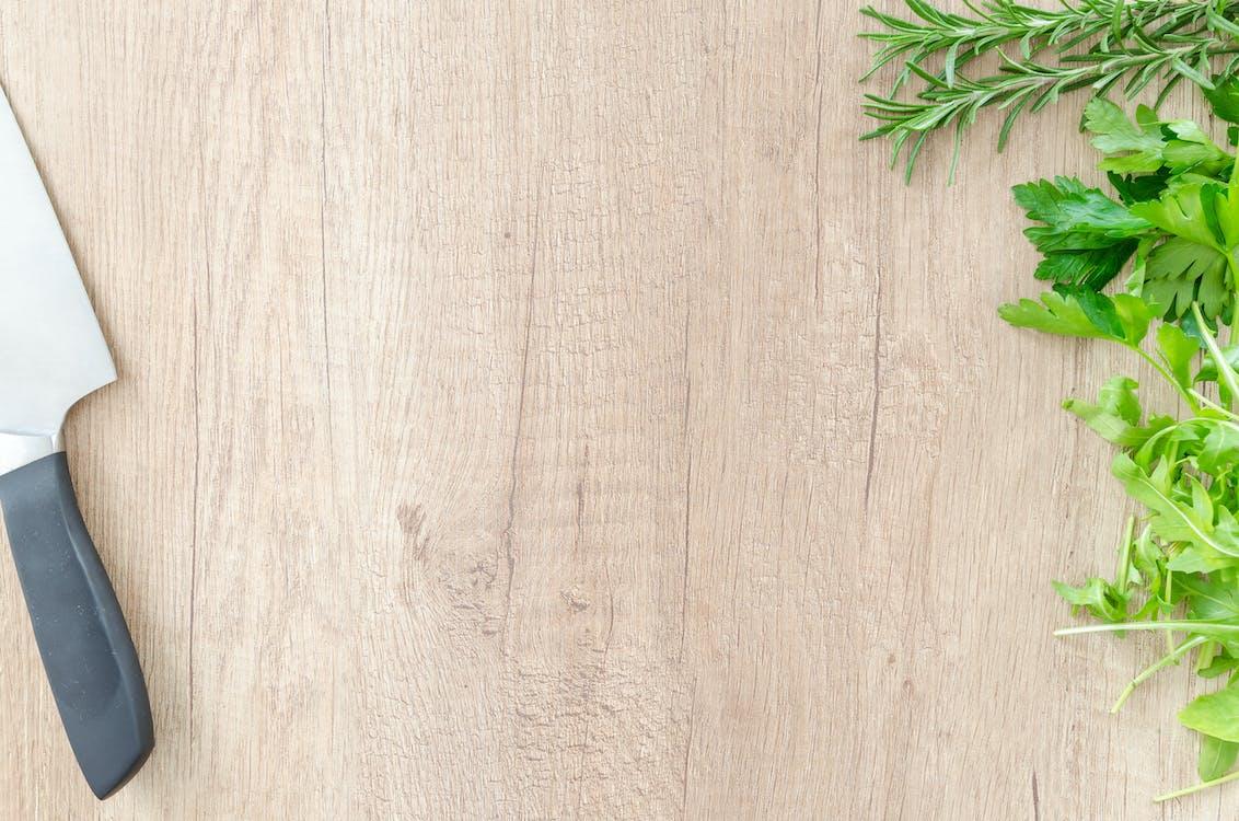 bazylia, deska do krojenia, drewniany