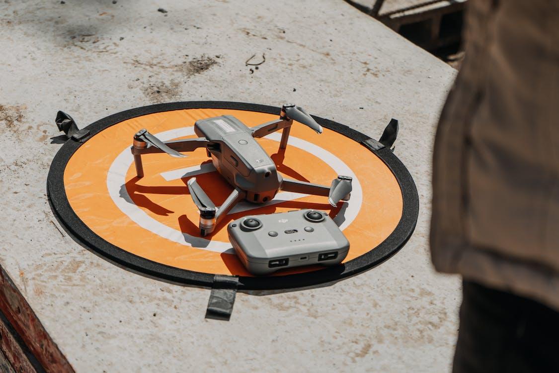 Close-Up Shot of Drone Camera