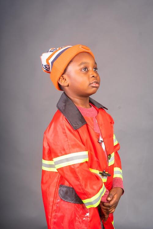 Boy in Fireman Costume