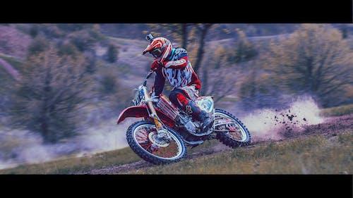 Free stock photo of bike racing, biker, blue