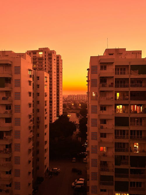 Buildings during Sunset