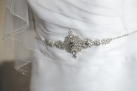 dress, white, decoration