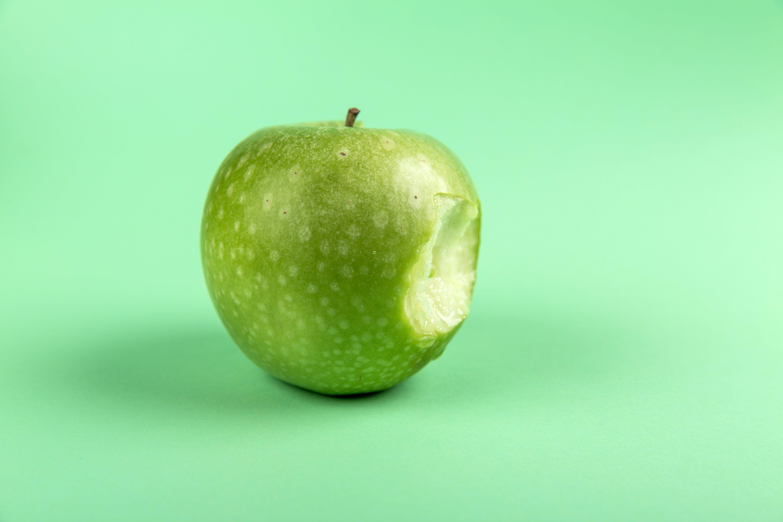 Grannysmith Apple With Bite