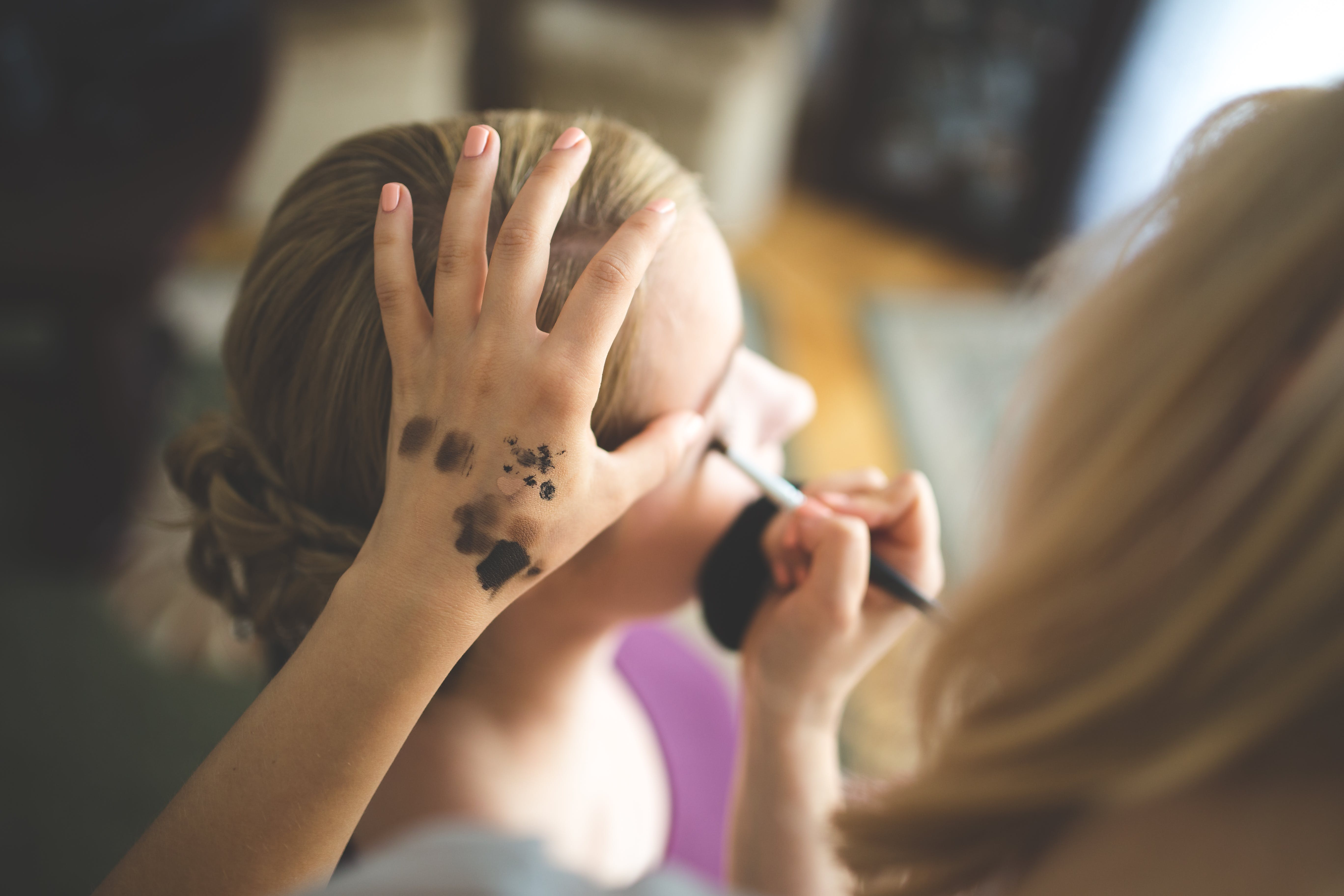 Free stock photo of hand, girl, makeup, halloween