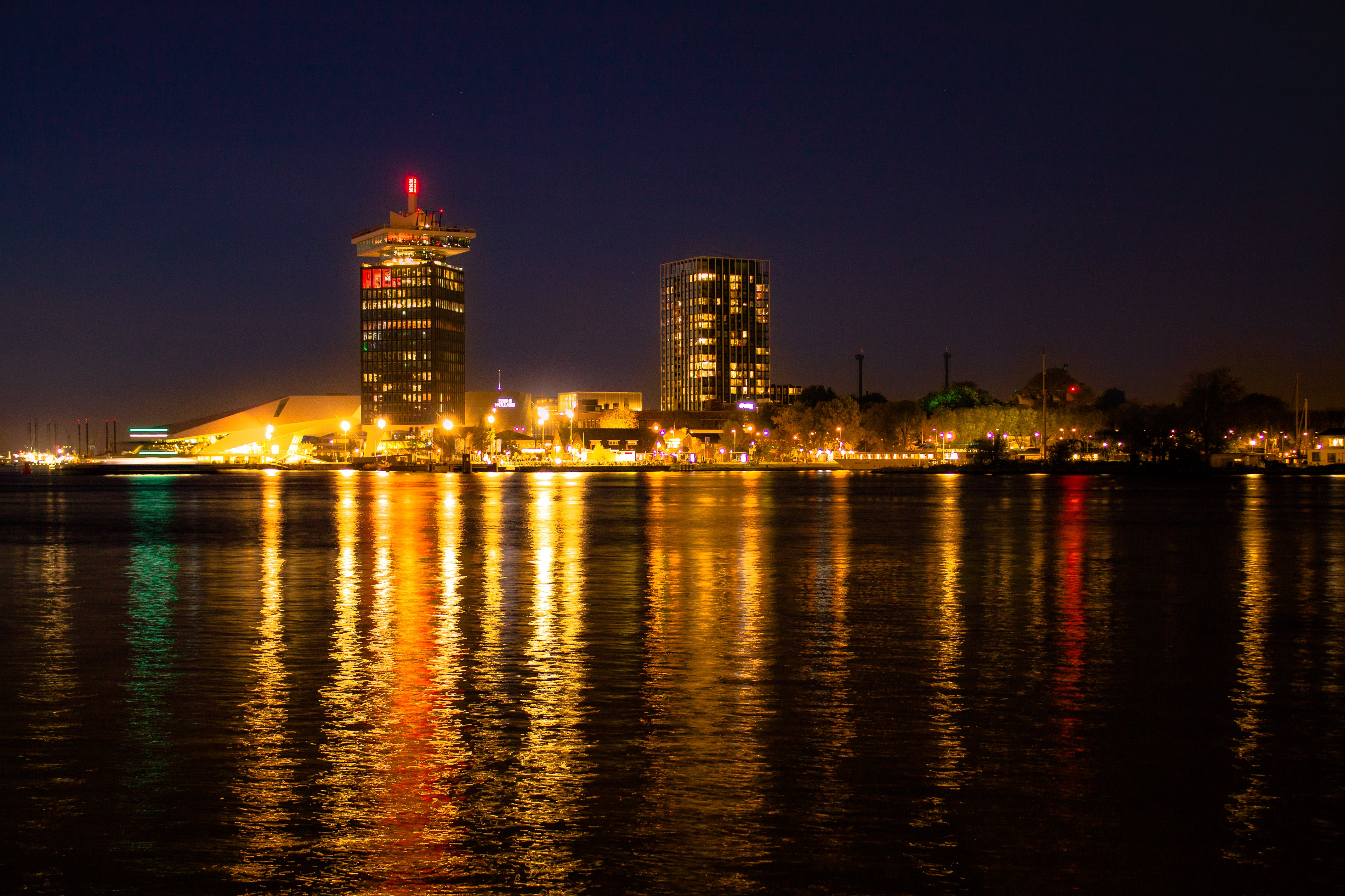 Free stock photo of amsterdam, architecture, city, night