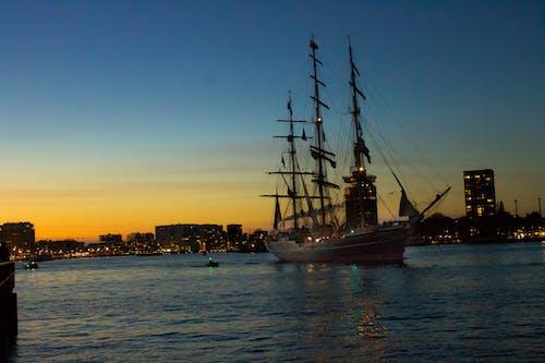 Free stock photo of amsterdam, boath, sunset, water