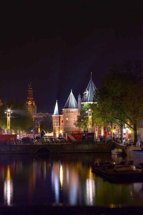 城堡, 晚上, 童话, 荷蘭 的 免费素材照片