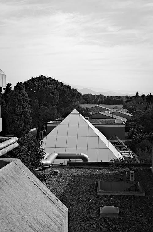 Free stock photo of architecture, monochrome, noir et blanc