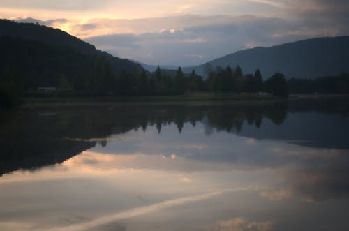 Free stock photo of cloudy sky, landscape, reflection