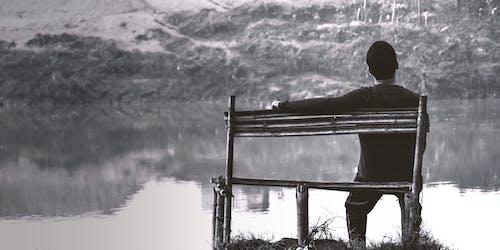 Free stock photo of alone boy, big river, boy alone