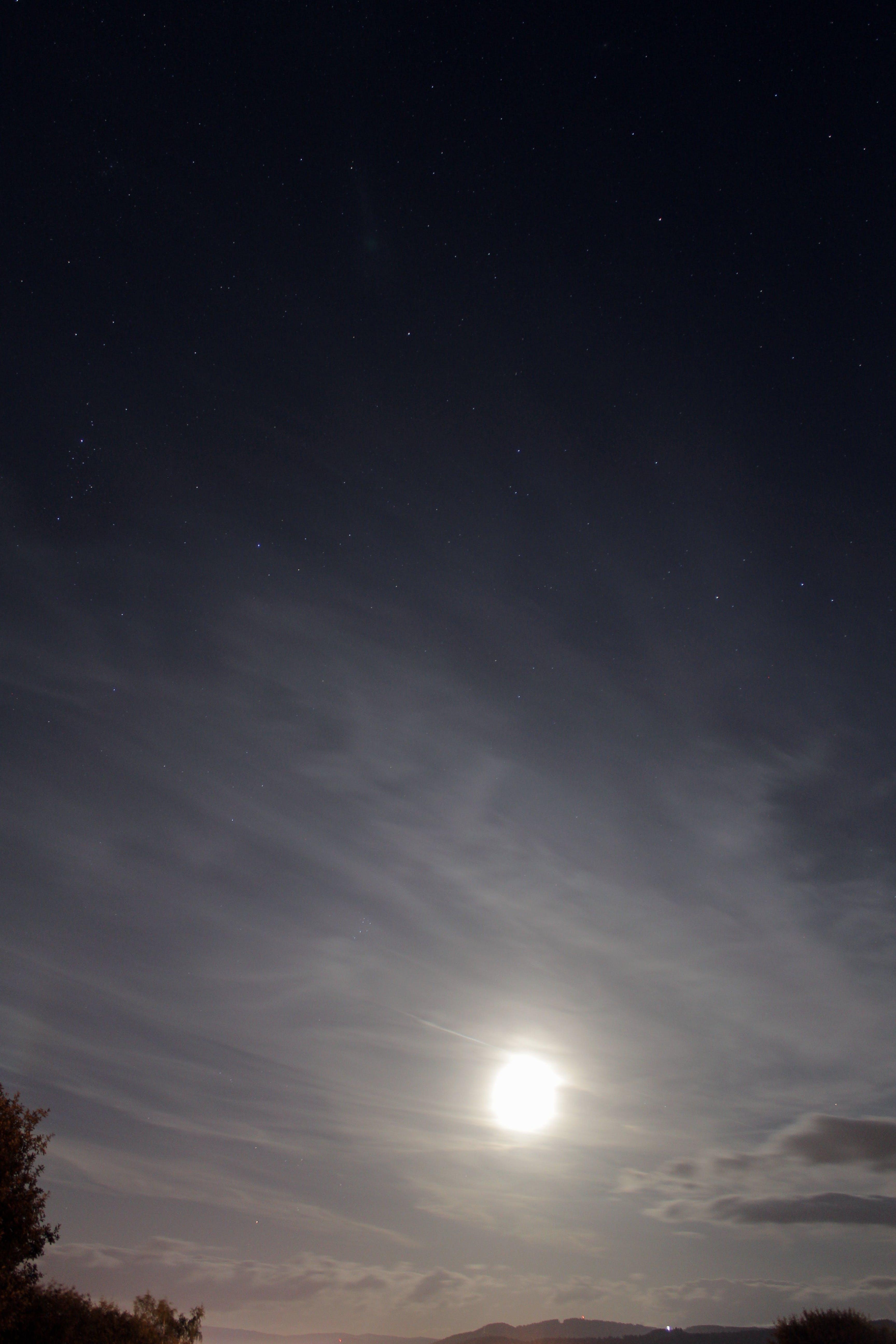 Free stock photo of clouds, dark, full moon, moon