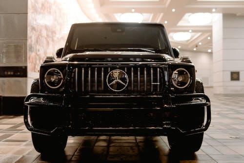 Luxury car on parking lot