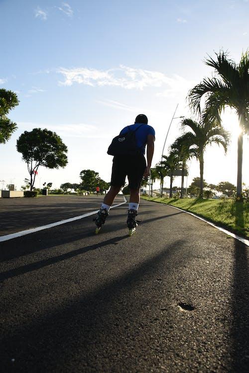 Foto stok gratis dalam jejak seluncur, olahraga, pantai