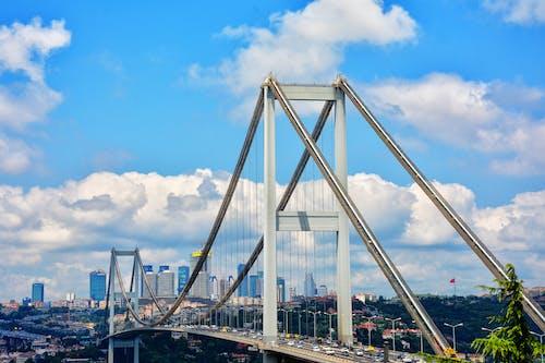 Kostnadsfri bild av arkitektur, bilar, blå himmel