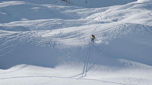 Man Skiing Alone