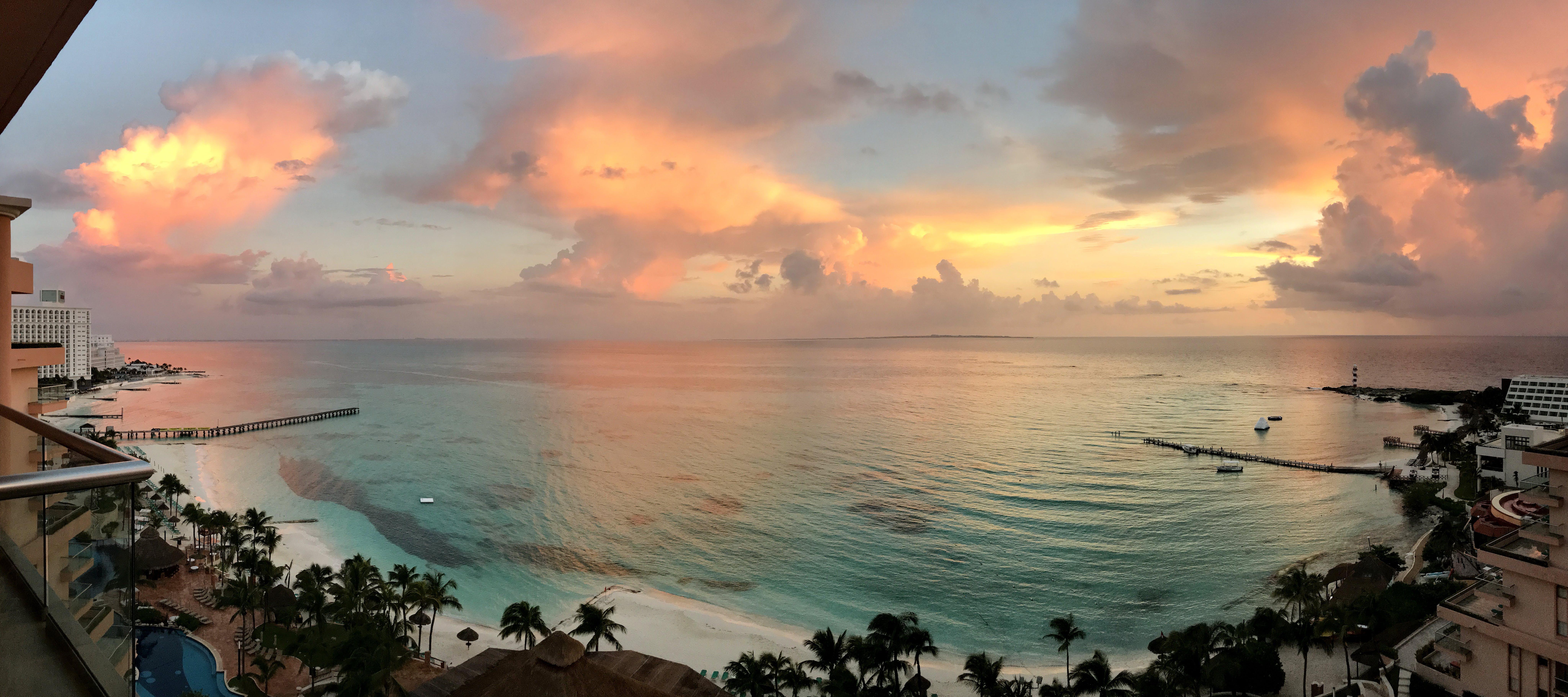 Free stock photo of beach, sunrise, mexico, cancun