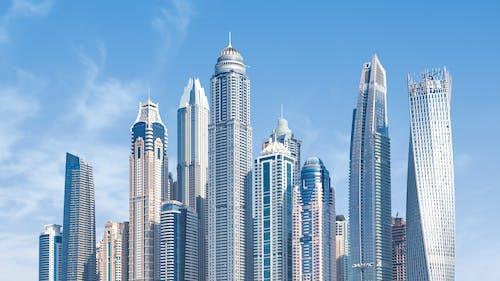 Concrete High-rise Buildings Under Blue Sky