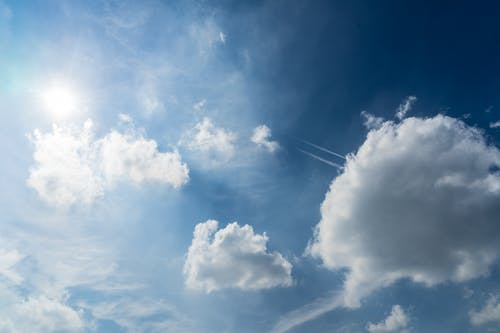 Immagine gratuita di alto, atmosfera, cielo, cielo azzurro