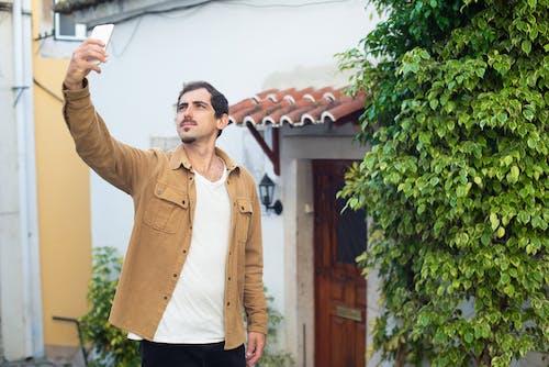 Δωρεάν στοκ φωτογραφιών με selfie, άνδρας, καφέ σακάκι