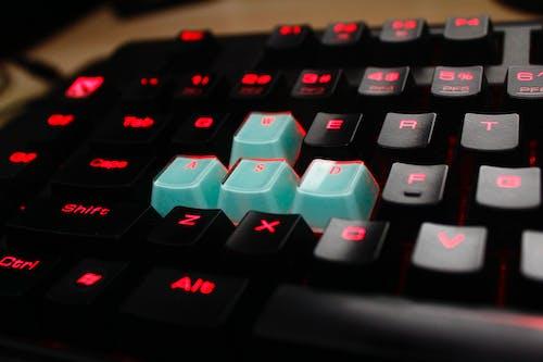 Foto stok gratis kartu kunci, keyboard, keyboard gaming, keyboard komputer