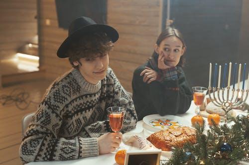 Foto d'estoc gratuïta de begudes, cultura jueva, decoracions nadalenques