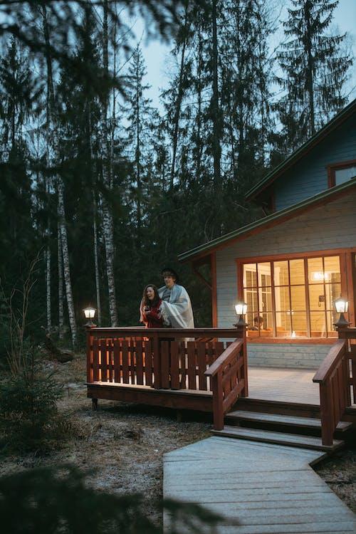 Ingyenes stockfotó alkonyat, erdő, erkély témában