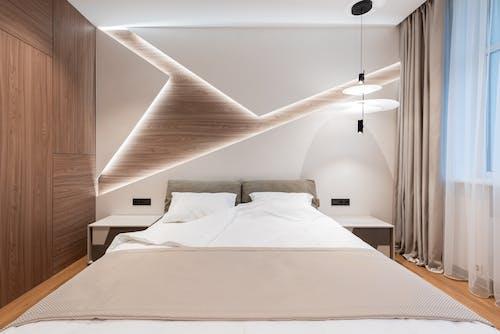 Interior of bright room in hotel