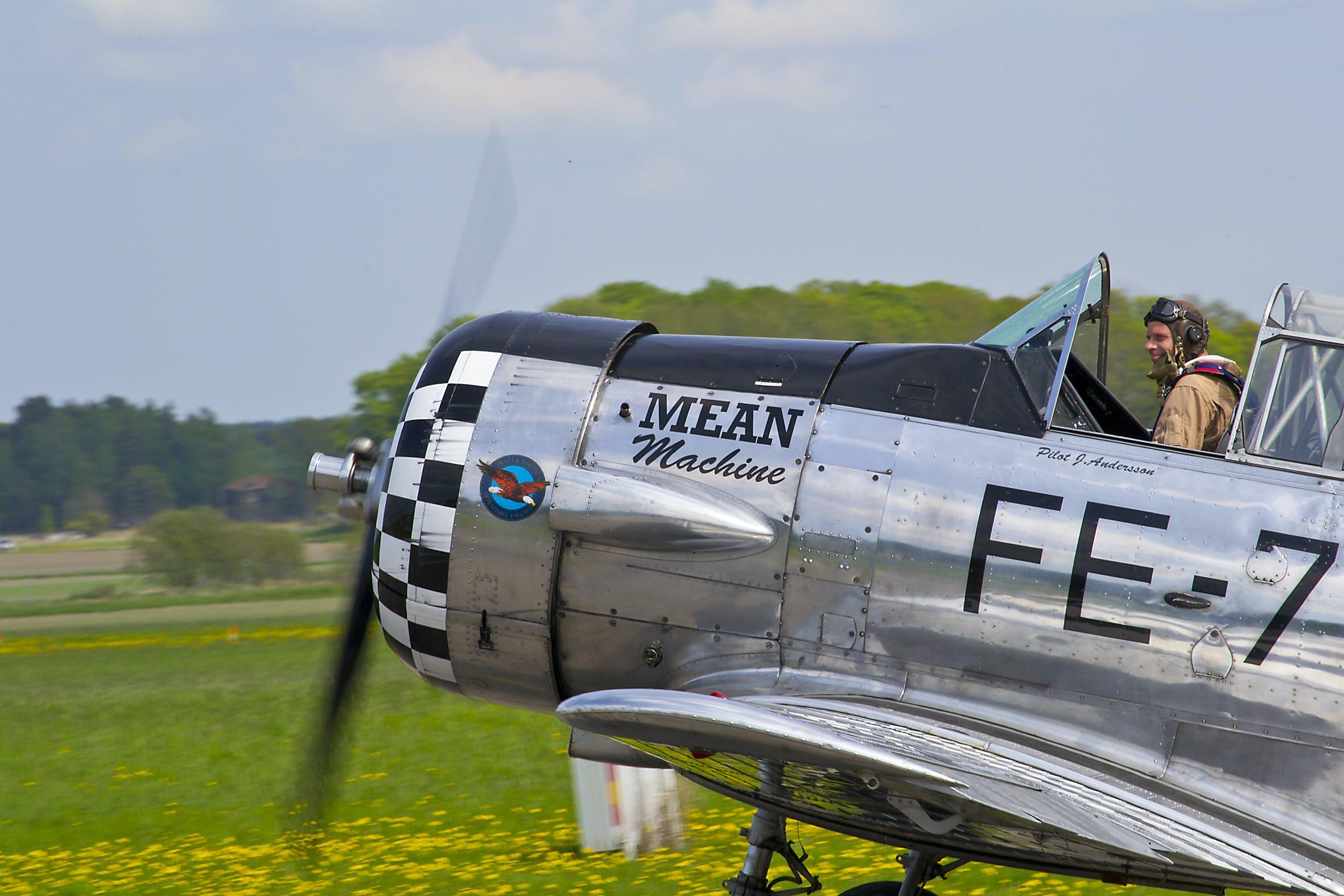 Free stock photo of aircraft, aircraft propellers, American Harward, SK 16