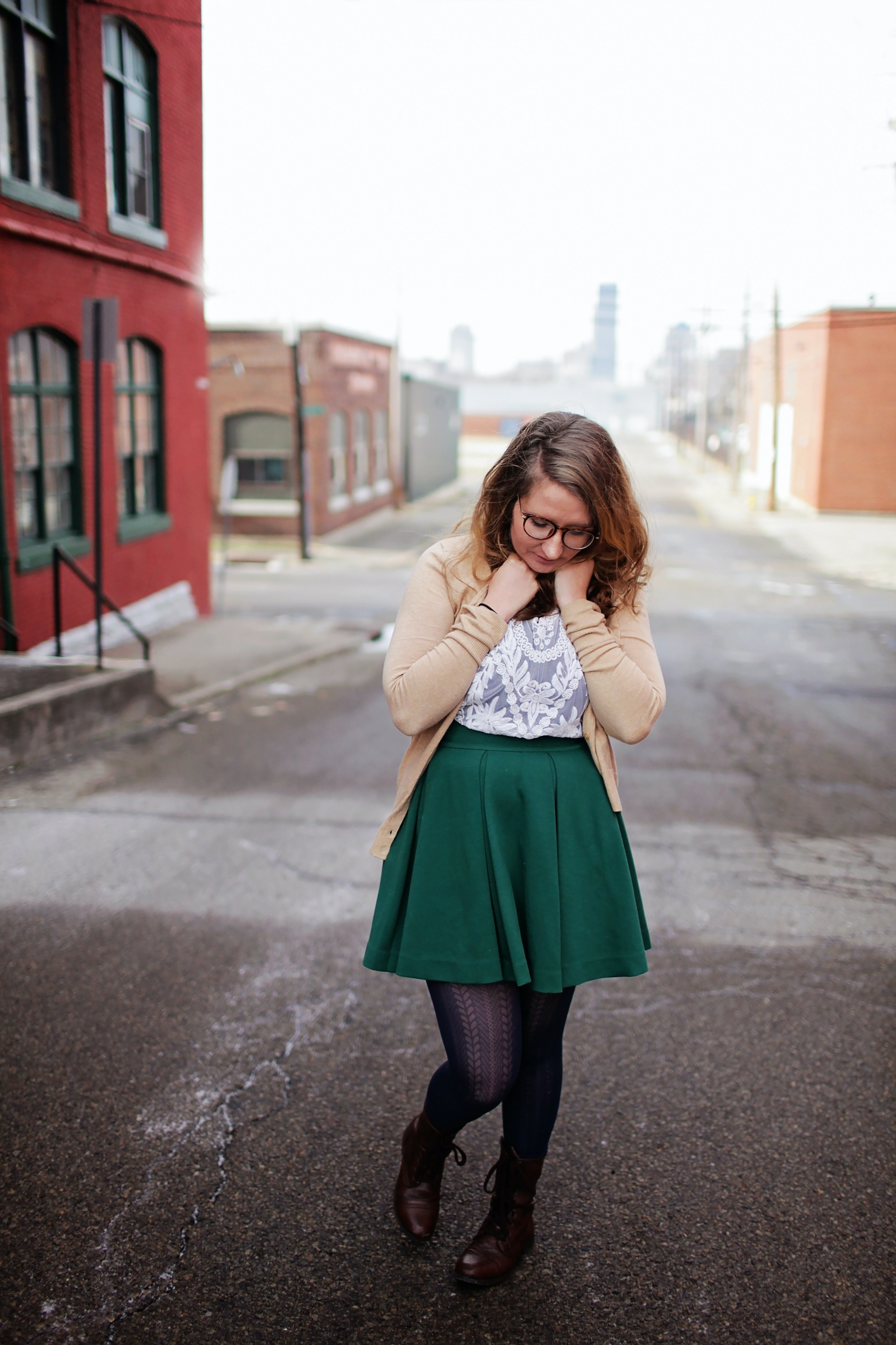 Woman Posing at the Camera