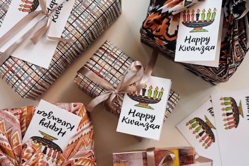 คลังภาพถ่ายฟรี ของ kwanzaa, mishumaa saba, กระดาษห่อของขวัญ