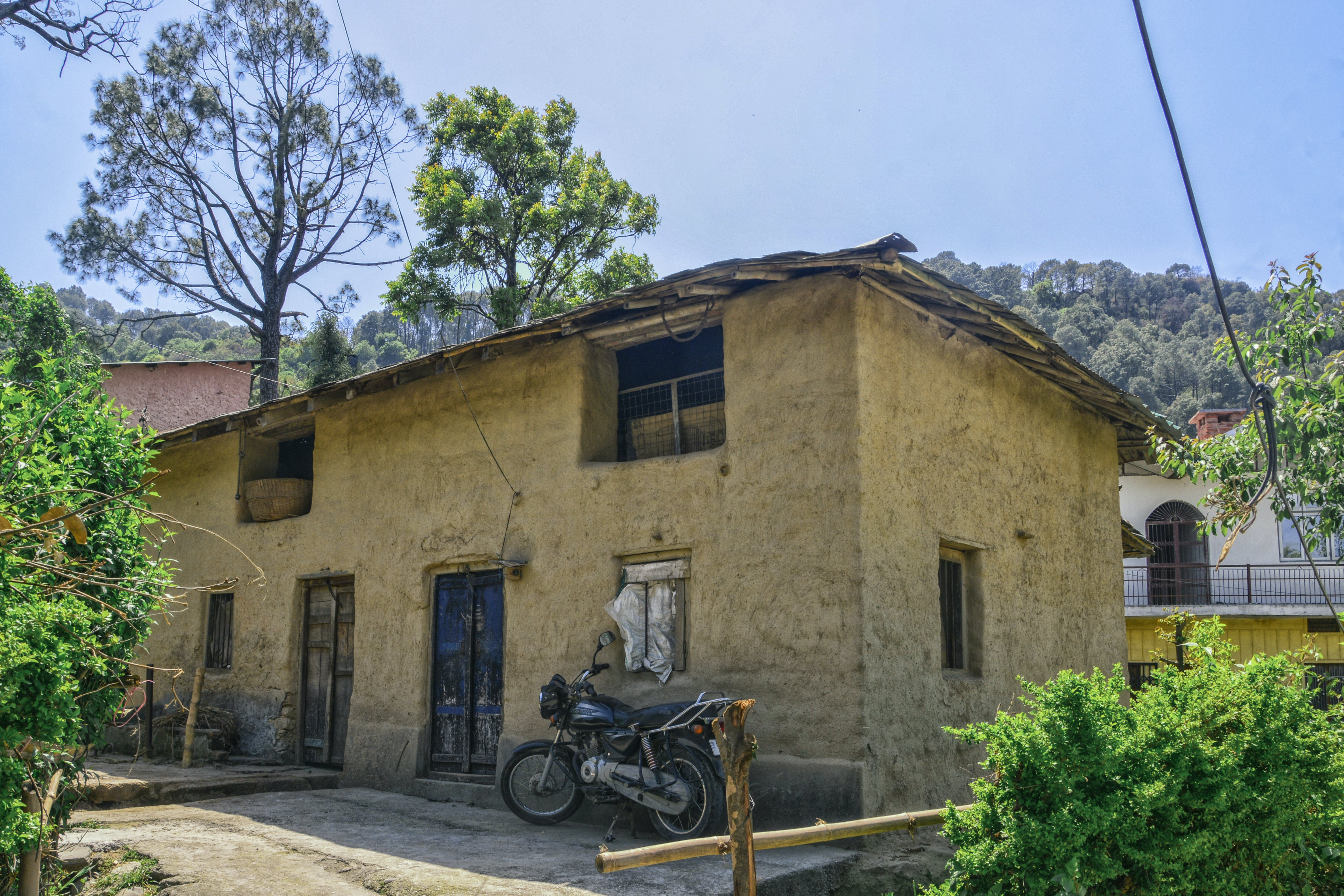 Free stock photo of himalayan, mud house, palampur valley, village life
