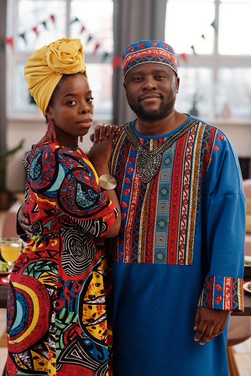 Photo Of Couple Wearing Traditional Clothing