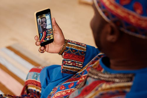 Photo Of Person Having A Video Call Via Smartphone