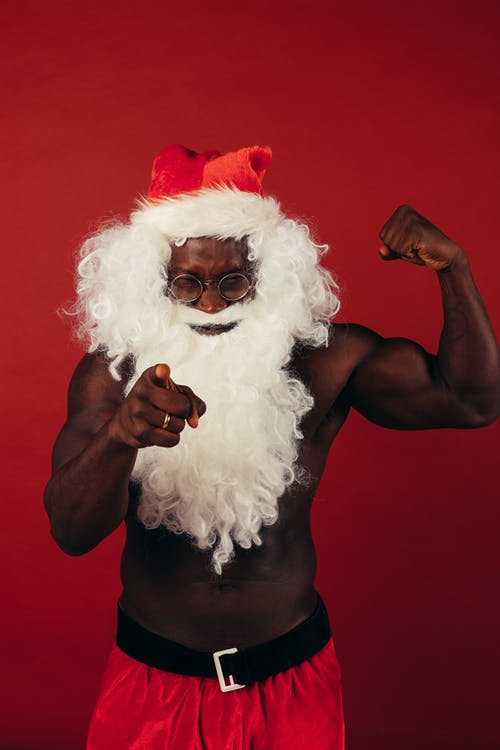 Man in Santa Claus Costume