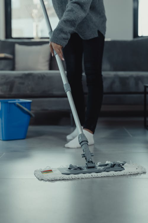 Do it in order: sweep before mop