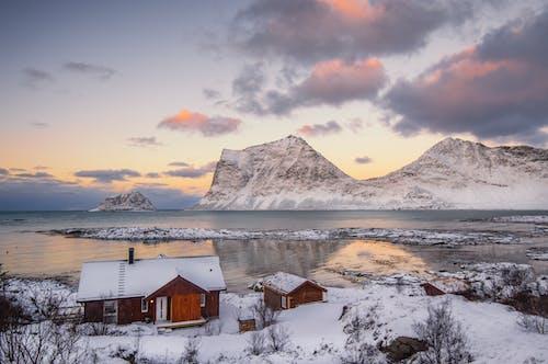 Free stock photo of arctic landscape, bungalow, coastal landscape, coastal scenery